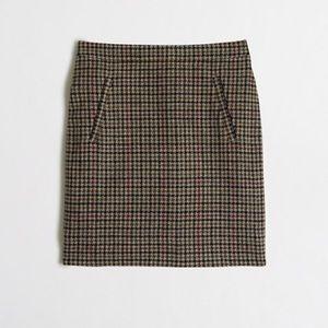 J.Crew Houndstooth Wool Mini Skirt